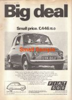 Fiat 500 1968 advert - Retro Car Ad Posters - The Nostalgia Store